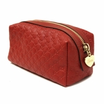 Gucci Red Leather Cosmetic Case 153228