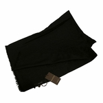 Scarves and Neckties: Gucci Scarf Black Cashmere/Wool 233724