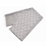 Gucci Scarf Light Grey Silk/Wool 165903