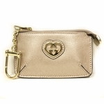 Gucci Shiny Pink Rose Gold Heart Clip Coin Case Purse 233183 AV61G