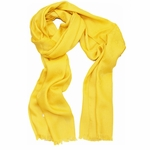Gucci Silk & Wool 'GG' Logo Monogram Scarf 165904, Yellow