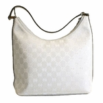Gucci Silver Canvas Hobo