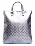 Gucci Silver Imprime Metallic Tote Bag 272347