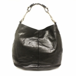 Gucci Soft Icon Black Leather Horsebit Hobo Bag 309574
