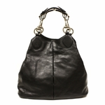 Gucci Soft Icon Bordeaux Black Leather Hobo Bag 309574