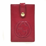 Gucci Soho Magenta Pink Patent Leather Card Case 338331