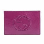 Gucci Soho Margenta Pink Patent Leather Business Card Case 337945