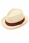Gucci Straw Fedora Hat