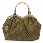 Gucci Sukey Large White Leather Tote Bag 211943