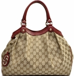 Gucci Sukey with Brick Red Leather