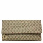 Gucci Supreme Canvas and Leather Flap Wallet 212104