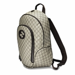 Gucci Supreme Canvas Interlocking G Logo Backpack Brown 223705