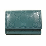 Gucci Teal Green Imprime Leather 6 Ring Key Case 199915 AZA1G 2527