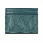 Gucci Teal Green Imprime Leather Business Card Holder 233166 FU49N