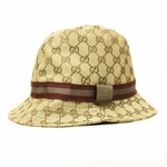 Gucci Unisex Fedora Hat Red and Tan Web 200036