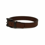 Gucci Unisex Leather Buckle Bracelet, Brown