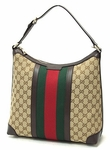 Gucci Vintage Web Hobo Green 257084