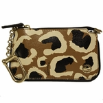 Gucci Yellow Leather Leopard Clip Case Wallet 233183
