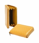Gucci Yellow Patent Leather Microgucissima Zip Card Case Wallet 255452