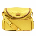 Gucci Yellow Waterproof Messenger Diaper Baby Bag 123326