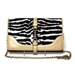 Gucci Zebra Broadway Chain Clutch