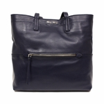 Miu Miu Navy Leather Tote Bag RR1820