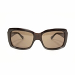 Moschino Brown Square Rhinestone Sunglasses MO523
