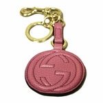 Pink Leather Key Ring
