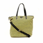 Prada B4696A Yellow Canvas Shopping Tote