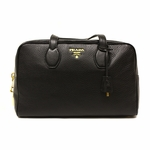 Prada Black Leather Shoulder Bag BL0862