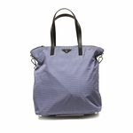 Prada Blue Checkered Shopping Tote B4696G