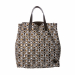 Prada Brown/Black Printed Tote