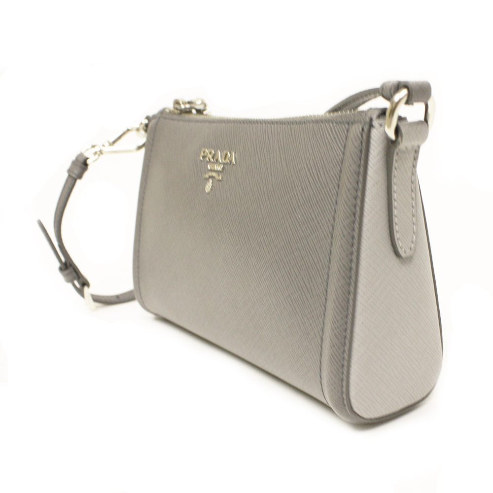 Prada Gray Saffiano Leather Small Bag 1N1733   Queen Bee of ...