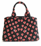 Prada Handbag I Love Prada Heart Pattern Satchel