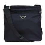 Prada Navy Blue Tessuto Nylon Leather Cross Body Messenger Bag 2VH563