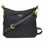 Prada Navy Blue Tessuto Saffian Leather Crossbody Messenger Bag BT0706