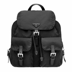 Prada Nero Tessuto Zainetto Black Nylon and Leather Backpack BZ2811