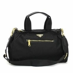 Prada Nylon and Leather Tessuto Bauletto Bag BN1843