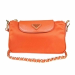 Prada Crossbody Messenger Chain Bag Papaya - BT0779