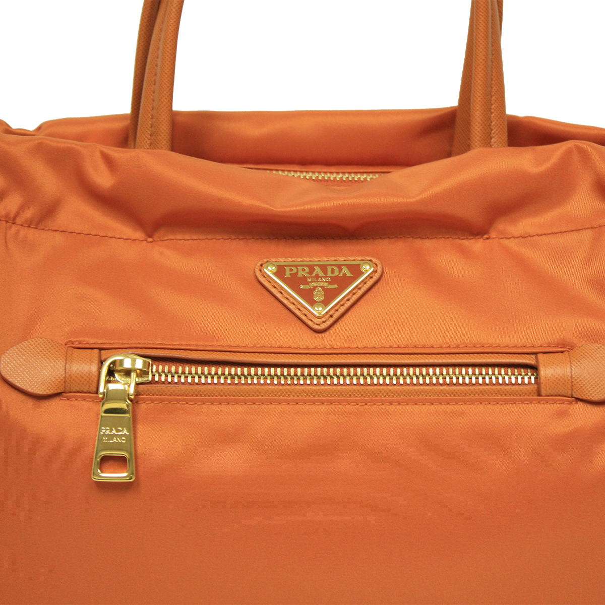 red prada handbag - Prada Papaya Orange Tessuto Saffian Leather Shopping Tote Bag ...