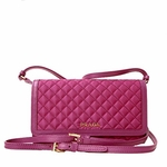 Prada Pink Quilted Nylon & Calf Leather Cross Body Wallet Bag 1M1437