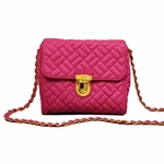 Prada Pink Tessuto Crossbody Chain Bag