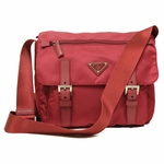 Prada Pink Tessuto Pattina Leather Crossbody Messenger Bag BT0953