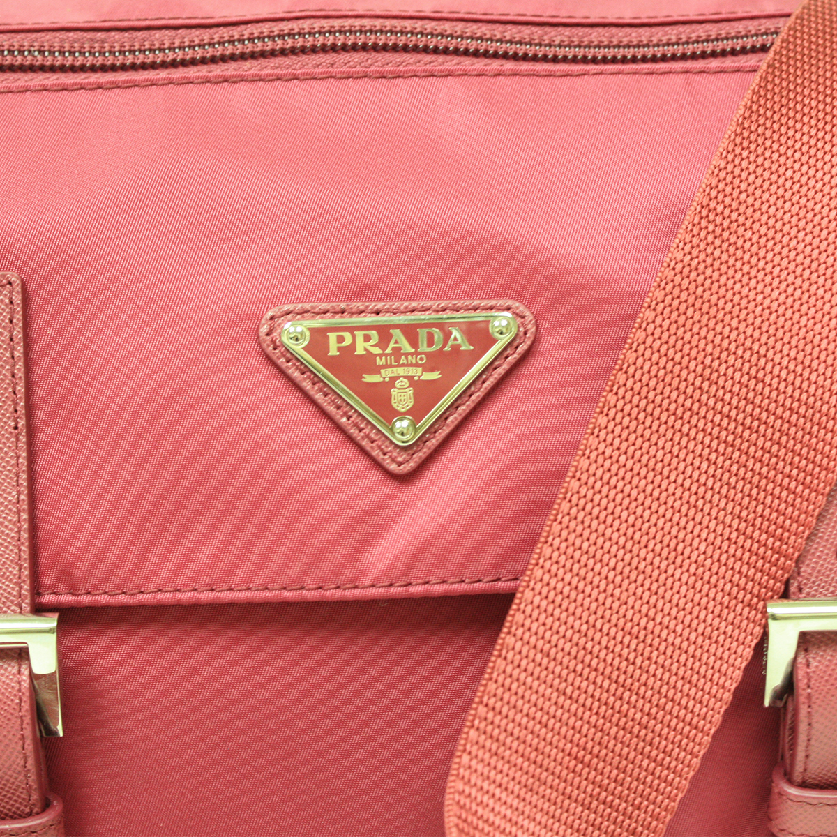 prada knockoffs purses - Prada Pink Tessuto Pattina Leather Crossbody Messenger Bag BT0953 ...