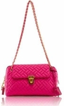 Prada Quilted Tessuto Chain Handbag Hot Pink BR4965