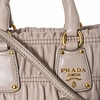 Prada Ruched Handbag Beige Nappa Leather Handbag Tote