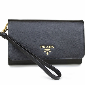prada handbags black and white - PRADA SAFFIANO LEATHER Wristlet | Queen Bee of Beverly Hills ...
