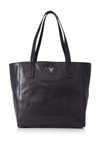 PRADA Shopping Soft Calf Leather Br5109 Black/Brown Tote Bag