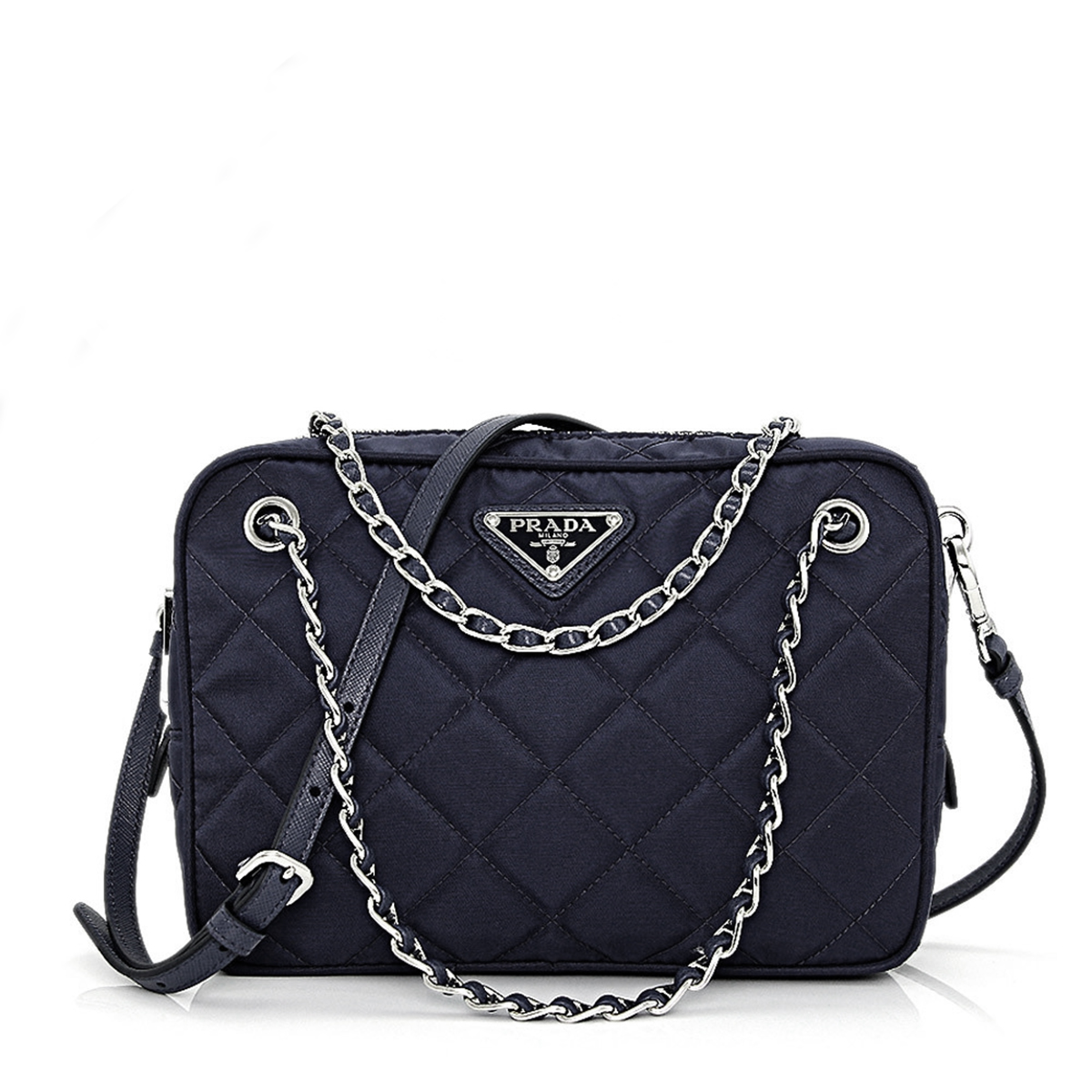 prada tessuto & saffiano messenger bag - Authentic Discount Designer Prada Bags | Queen Bee of Beverly ...