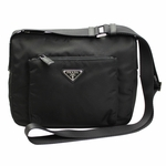 Prada Tessuto Sacca Nylon Crossbody Messenger Bag BT0909, Black / Nero